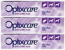 Optixcare Eye Lube Plus 20g Dog Cat Horses - Pack of 3