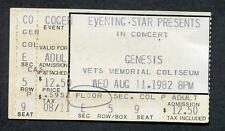 1982 Genesis concert ticket stub Phoenix AZ Three Sides Live Abacab Phil Collins