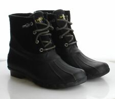 35-22 MSRP $120 Women's Size 8 Sperry Saltwater Black Waterproof Rain Booties