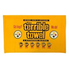 MYRON COPE'S PITTSBURGH STEELERS GOT RINGS BLING TERRIBLE TOWEL NWT OFFICIAL