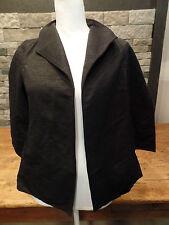 Eileen Fishter Ottoman Jacket Black Textured Shimmer Open Women's PS NWT $358