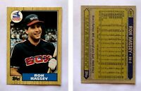 Ron Hassey Signed 1987 Topps #667 Card Chicago White Sox Auto Autograph