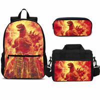 Godzilla Print Backpack/ Insulated Lunch Bag/ Crossbody Bag/ Pen Bag/ Set Lot