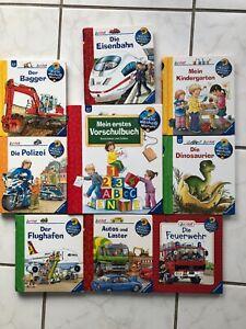 Wieso Weshalb Warum junior - Bücherpaket mit 9 Büchern, guter gelesener Zustand