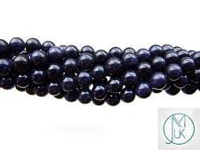 Blue Goldstone Gemstone Round Beads 8mm Jewellery Making (47-50 Beads)
