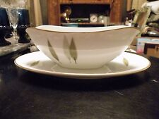 Noritake SUGI Gravy Boat with Attached Liner Mid Century MINT