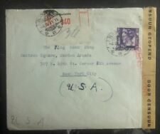 1941 Batavia Netherlands Indies Censored Cover to King Bookshop New York USA