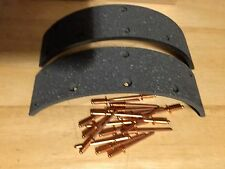NEW R25/3 R26 R27 BMW BRAKE LINING PACKAGE 2 SHOES + COPPER POP RIVETS NEW