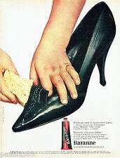 PUBLICITE ADVERTISING 096  1962  le cirage chaussures  Baranne