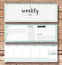 """""""My Weekly Planer grün"""" Tischkalender Jahresplaner mit 52 Wochen Kalender"""