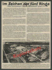 Orig. preliminary Olympic Games Empire Sports Field Berlin Grunewald Sport 1935