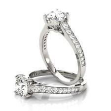 Diamond Journey Engagement Ring Forever Brilliant Moissanite Cathedral