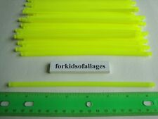 "KNEX BUILDING TOY LOT: 50 Neon Yellow 7 1/2"" Flexi Rods Flexible 7.5"" Rippin..."