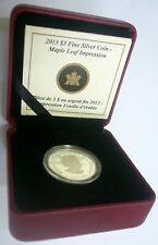 Canada Maple Leaf 2013 Silver $3 Proof .999 - C/W Burgundy Casing.