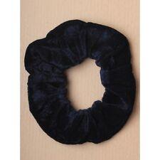 Navy Blue Soft VELVET Hair Scrunchie Elastic School Elasticated Gym Scrunchy