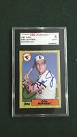 Cal Ripken Jr. 1987 Topps #784 Signed Orioles HOF Autographed Authentic SGC