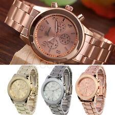Fashion Women Men Watch Analog Stainless Steel Quartz Sport Dress Wrist Watches
