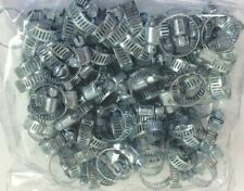 "100pc Steel Metal Hose Clamps Adjustable Band 5/16"" to 7/8"""