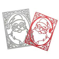 Christmas Santa Frame Metal Cutting Dies Stencil Scrapbooking Album Noël Card