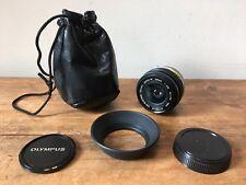 Vintage 'Olympus' Zuiko Auto-W,1:2.8/28mm Lens & Accessories-Superb Condition!
