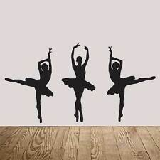 3 Ballet Dancer / Ballerina Wall Stickers - Several Colours and Sizes
