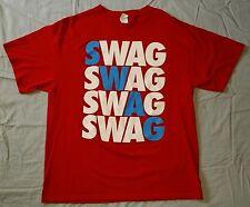 Mens Swag Cool Illest Dope Pimp Hip-Hop Red T-Shirt Size XL