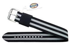 Fossil DES1030 Defender Series Black/Grey Stripe Nylon 20mm Watch Strap