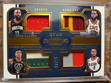 LEBRON GIANNIS HARDEN LILLARD DOMINION QUAD PATCH JERSEY RELIC 17/25 SSP HOF WOW