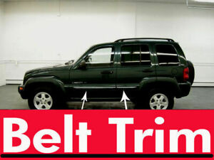 For Jeep LIBERTY Flexible Chrome Body Side Molding Trim Kit 2002-2007 2008-2013