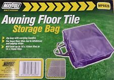 MAYPOLE Awning Floor Tile Zip Storage Bag with Handles, Blue in colour (MP6626)