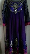 Violet Or Fête De Mariage Occasion Wear Dress Churidar Suit avec Dupatta