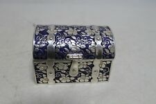 Antique Old Hand Made Japan Silver Jewelry Box Holder Mark