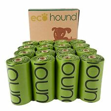 Ecohound biodegradabili Cacca di Cane Borsa ROLLS-Cane Rifiuti Sacchetti ermetici Unscented (