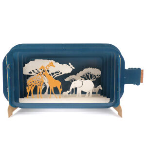 Message In A Bottle African Animal Pop Up Birthday Greeting Card By Alljoy Cards