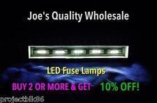 (6) weiß LED Sicherung Lampen - 8v-Empfänger/2265 2325/Stereo Meter Zifferblatt/4300 4400 2015