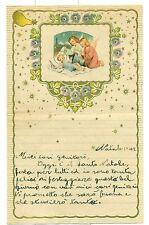 LETTERINA DI NATALE 1948 Bordo e decorazione in rilievo