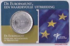 Nederland 5 Euro 2004 Europamunt vijfje in coincard (zeer zeldzaam)