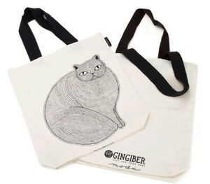 Catnip Tote Bag - printed ready to use - Catnip design by Gingiber