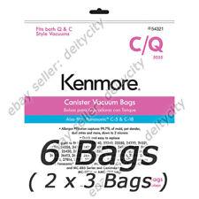 (2) Kenmore 54321 Canister Vacuum Bags C/Q 5055 KM48700-12 Panasonic C-18 6 Pack