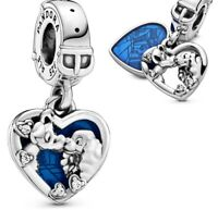 Genuine Pandora ALE 925 Disney Lady and the Tramp Heart Dangle Charm 798634C01