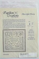 Papillon Creations Three Little Words Sampler Counted Cross Stitch Pattern