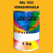Giallo Traffico Ral 1023 Opaco 1 KG Acrilico Vernice Per Metallo Legno Vetro Di