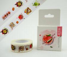 Japanese food & drink washi tape! Kawaii sushi planner tape matcha tea dumplings