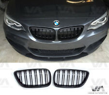 BMW 2 SERIES F22 F23 F87 M2 GLOSS BLACK M STYLE DOUBLE KIDNEY GRILL GRILLE