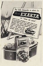 Z3704 Macchina fotografica EXAKTA - Pubblicità d'epoca - 1940 old advertising