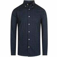 Gant Men's Micro Scribble Print Shirt (Navy)