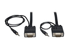 PC Laptop to HD LCD LED Plasma TV 15 Pin VGA With Jack Audio Cable 5m