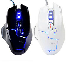 E-3lue Mazer 2500 DPI 6D USB Wired Blue Cool LED Optical Game Gaming Mouse Mice