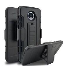 Shockproof Hybrid Armor + Holster Belt Clip Case Cover for Motorola Moto Z Play