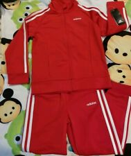 Girls Adidas Tracksuit Classic Red 6x Unisex